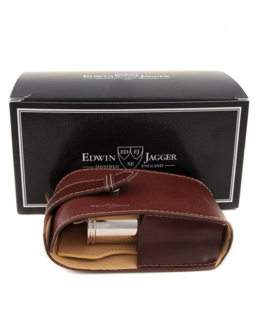 6f0513eea1 EDWIN JAGGER LEATHER TRAVEL SHAVING KIT - BROWN - £ 124.95