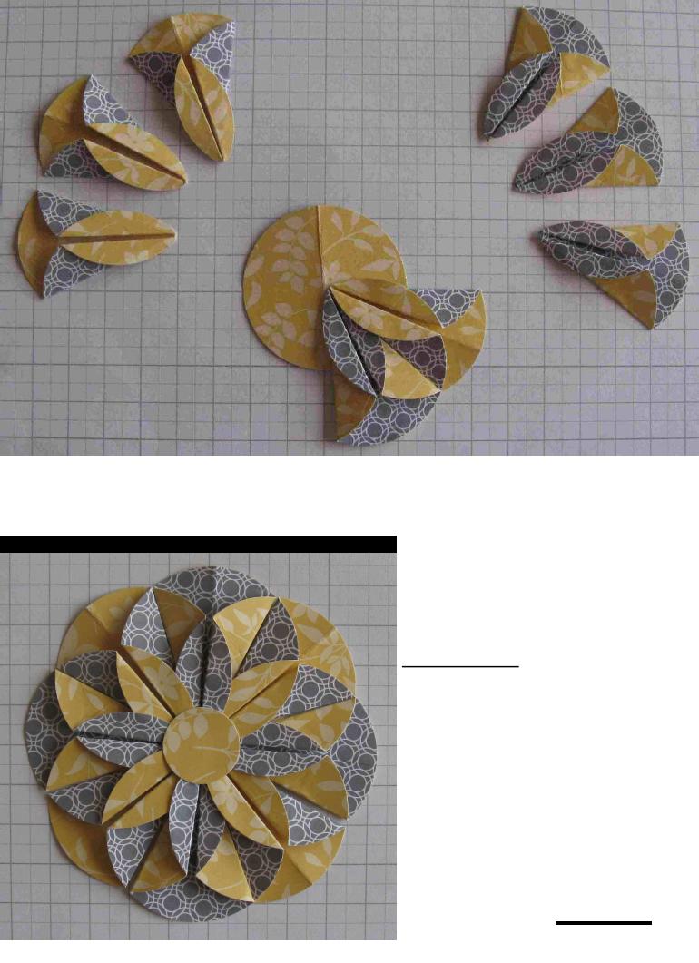 Easy nine circle flower craft  DIY paper flower Bow tutorial for