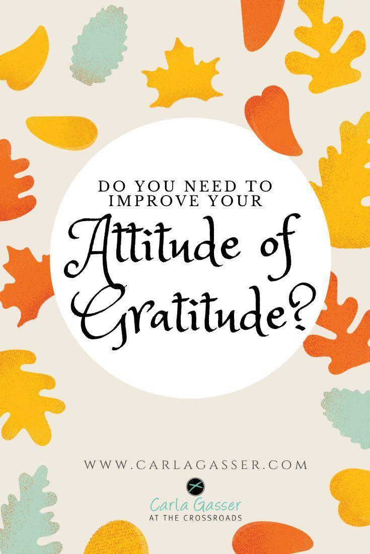 Do you need to improve your attiude of gratitude