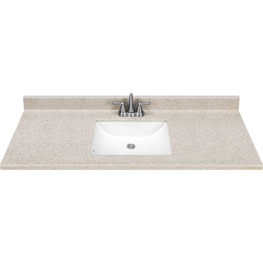 This Looks Better In Person Than The Granite Choice At Loweu0027s Around The  Same Price. Style Selections Dune Solid Surface Integral Single Sink  Bathroom ...