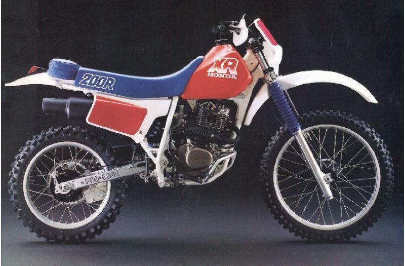 Honda Xr 200 Enduro Motorcycle Honda Honda Motorcycles