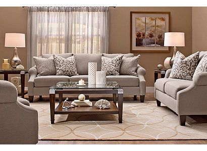 Anastasia Transitional Living Room Collection Design Tips Ideas Raymour And Flanigan Brown Living Room Decor Brown And Blue Living Room Brown Living Room