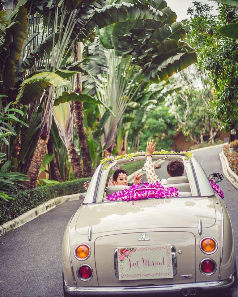 6 Evergreen Indian Wedding Car Decoration Ideas Cute Wedding Decor