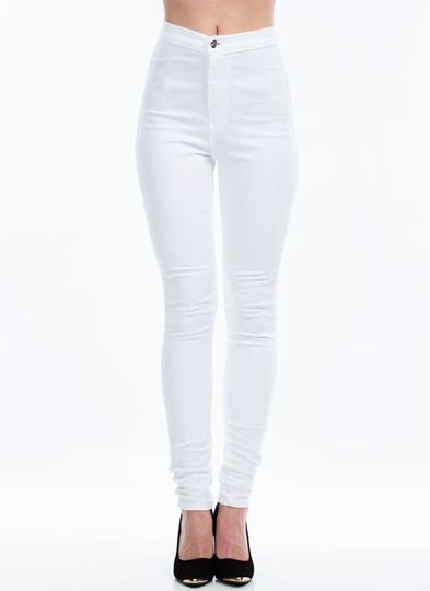 High waisted white jeans cheap – Global fashion jeans models