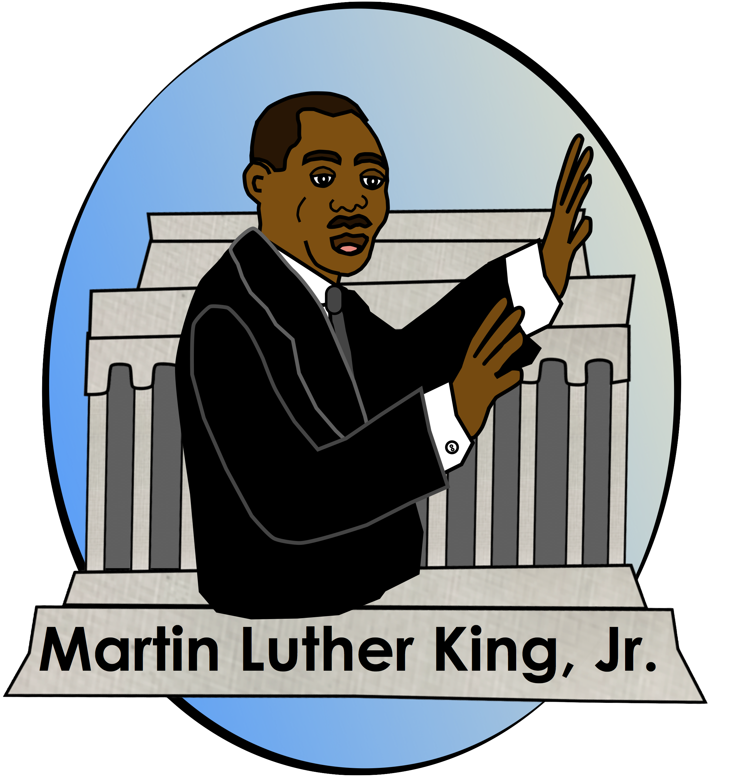 free martin luther king jr clip art from charlotte s clips rh pinterest co uk martin luther king clipart images martin luther king clipart free