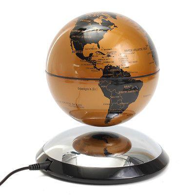 4699 6 inch magnetic levitation maglev levitating floating globe 6 inch magnetic levitation maglev levitating floating globe world map desk decor gumiabroncs Gallery