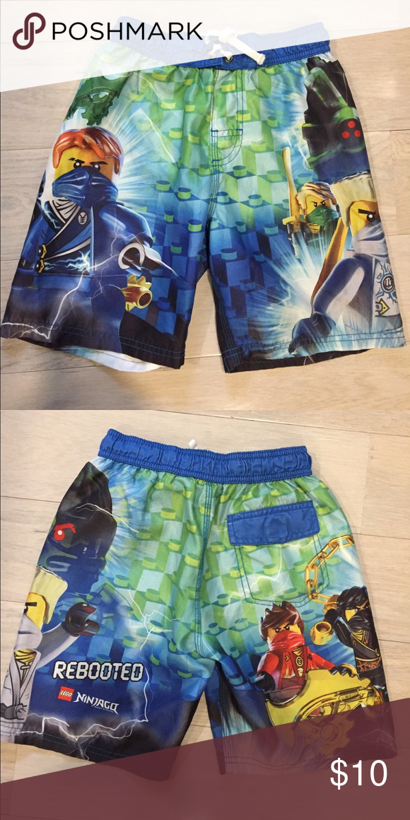 009085f18e Lego Ninjago boys bathingsuit. Sz S 6/7. Lego Ninjago boys bathingsuit. Sz  S 6/7. Excellent condition. Very cool! Swim Swim Trunks