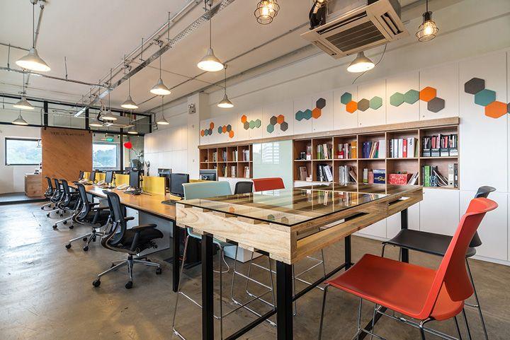 Интерьер офиса компании Sennex в Сингапуре Open Office Pinterest