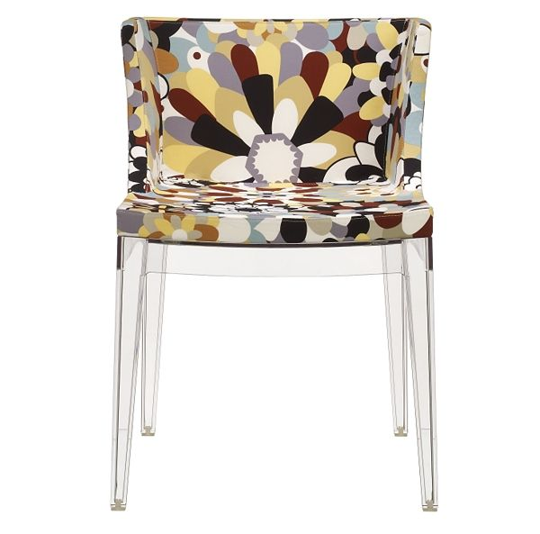 Missoni Home Armchair Miss: Mademoiselle Chair With Missoni Fabric, By Kartell