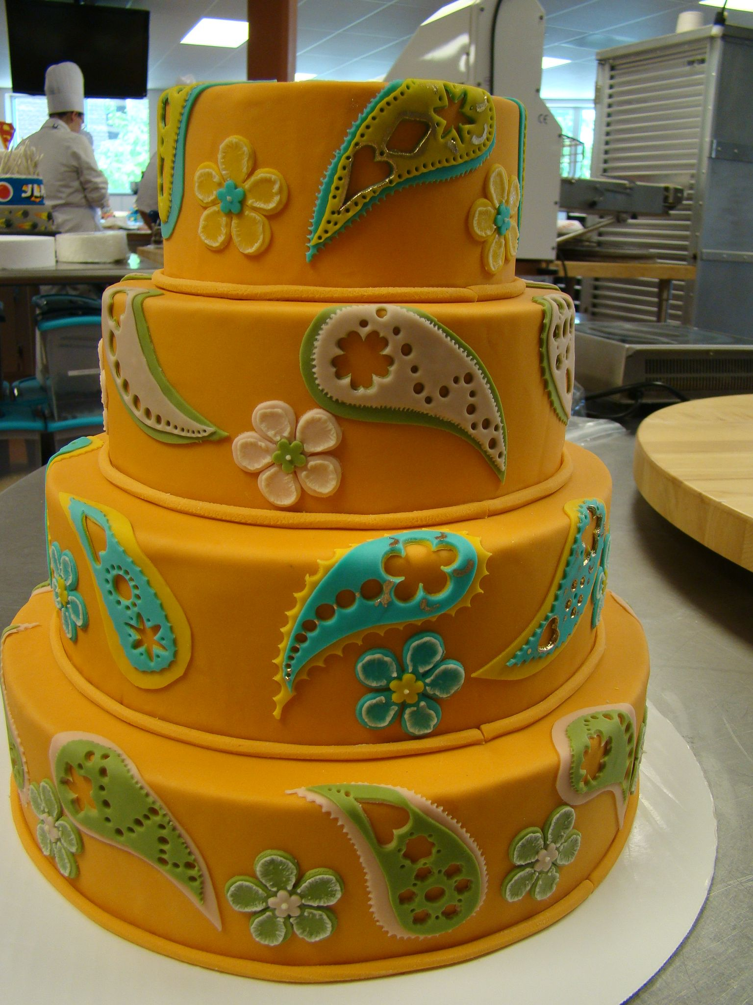 For our Paisley girl- Paisley Fondant Cake from class. Loved doing this one, so much fun. | Cake ...
