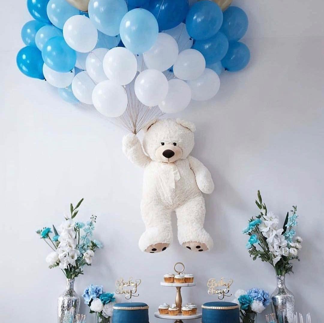 "Baby Shower decoration on Instagram: ""#babyshower #babyboy #babyshowerideas  #birthdayb… in 2020   Girl baby shower decorations, Baby boy decorations,  Teddy bear baby shower"