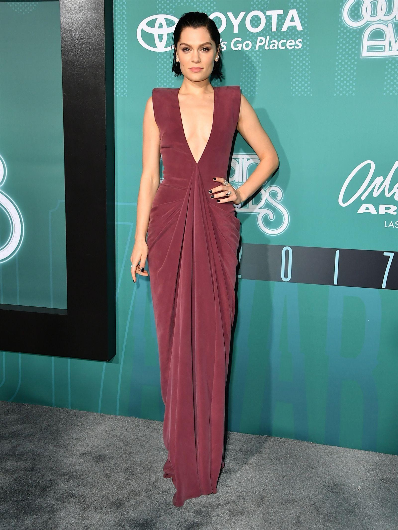 3f4b9e94cc Jessie J Hollywood Red Carpet, Red Carpet Dresses, Plunging Neckline,  Jessie, Celebrity