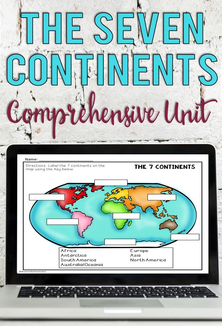 Continents and Oceans Activities for Remote Learning in