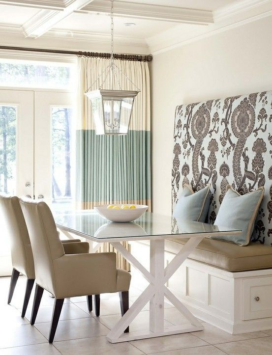 Bench Seat At Dining Roomjanisnext To A Glass Sliding Door Beauteous Dining Room With Bench Seating Design Inspiration