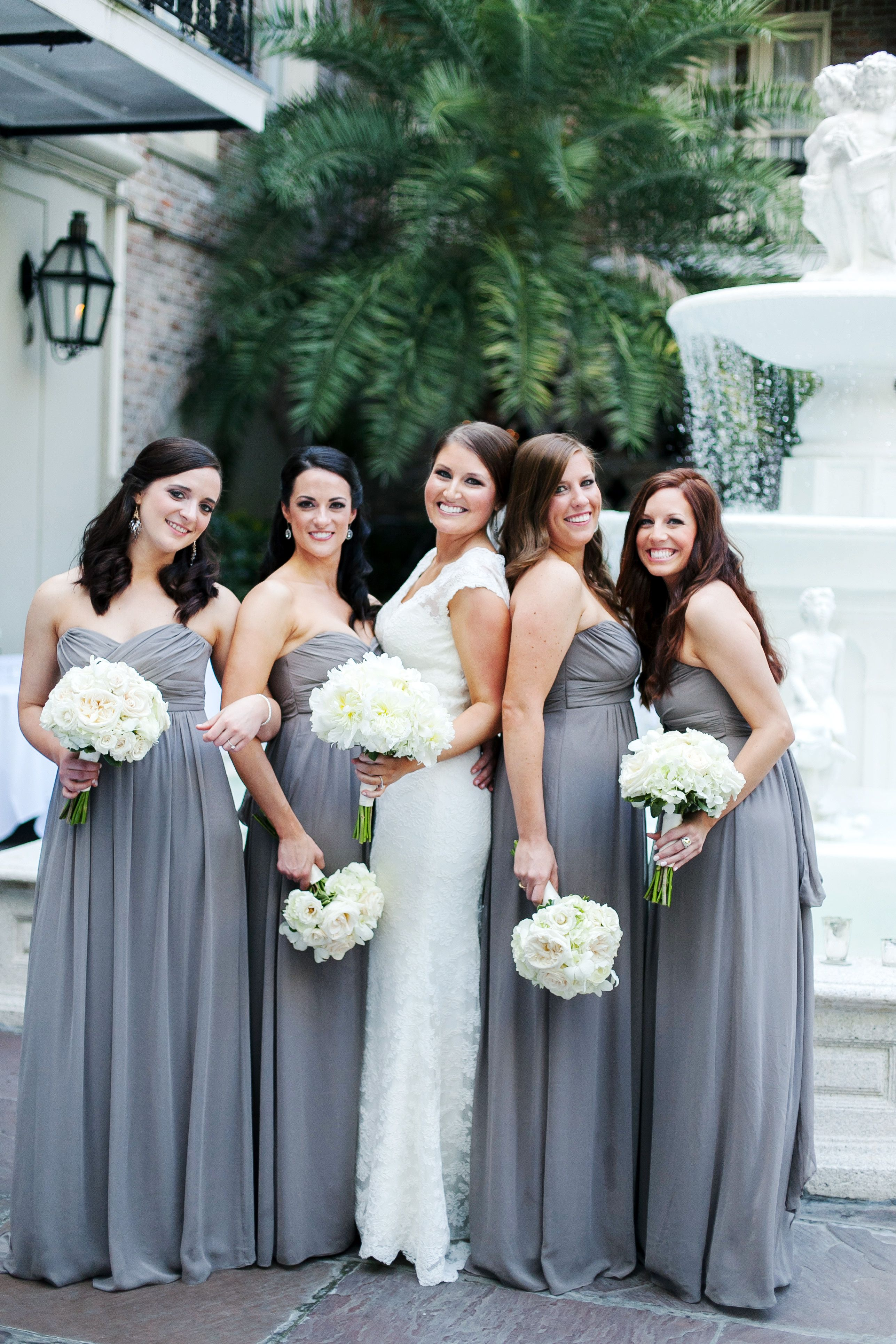 Maison dupuy courtyard weddings in new orleans strapless gray maison dupuy courtyard weddings in new orleans strapless gray empire waist bridesmaid dresses ombrellifo Images