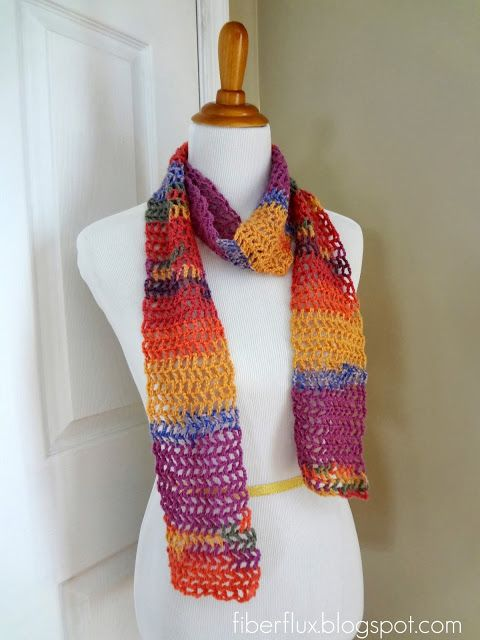 Fiber Flux Free Crochet Patternngo Salsa Scarfghtweight