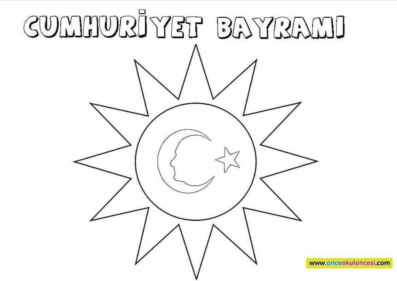 29 Ekim Cumhuriyet Bayrami Boyama Sayfalari Sanat Etkinlikleri Sanat