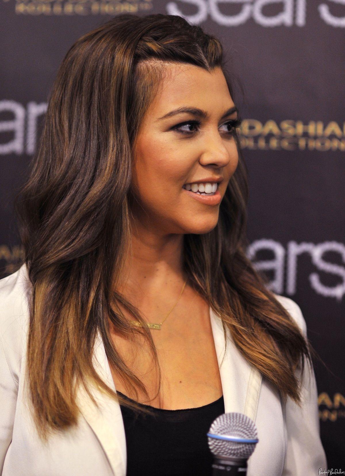 Hair color Kourtney Kardashian  styles  Pinterest  Kourtney