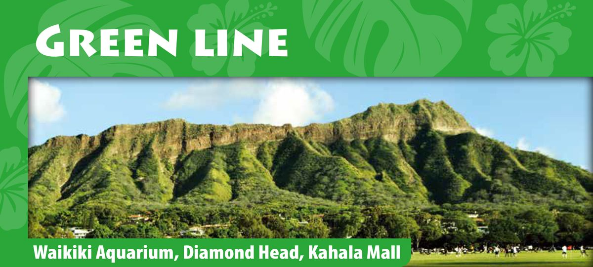 Green Line: Scenic Diamond Head Sightseeing Tour | Fun and Affordable Way to Experience Honolulu