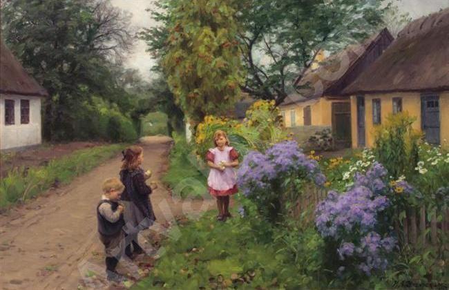 Children Playing Hans Andersen Brendekilde Danish 1857 1942