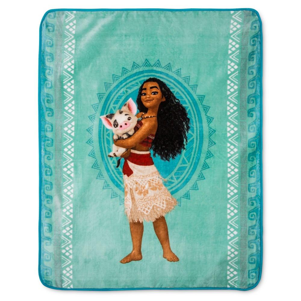 Moana The Waves Throw 46 X60 Blue Disney With Images Disney Bedding Disney Moana Plush Throw