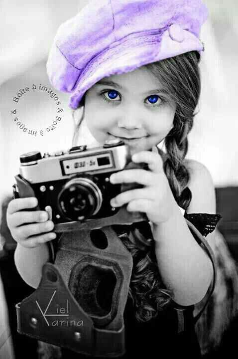 *** black and white photos with splash of color #purple + #photography / cute portraits / hats
