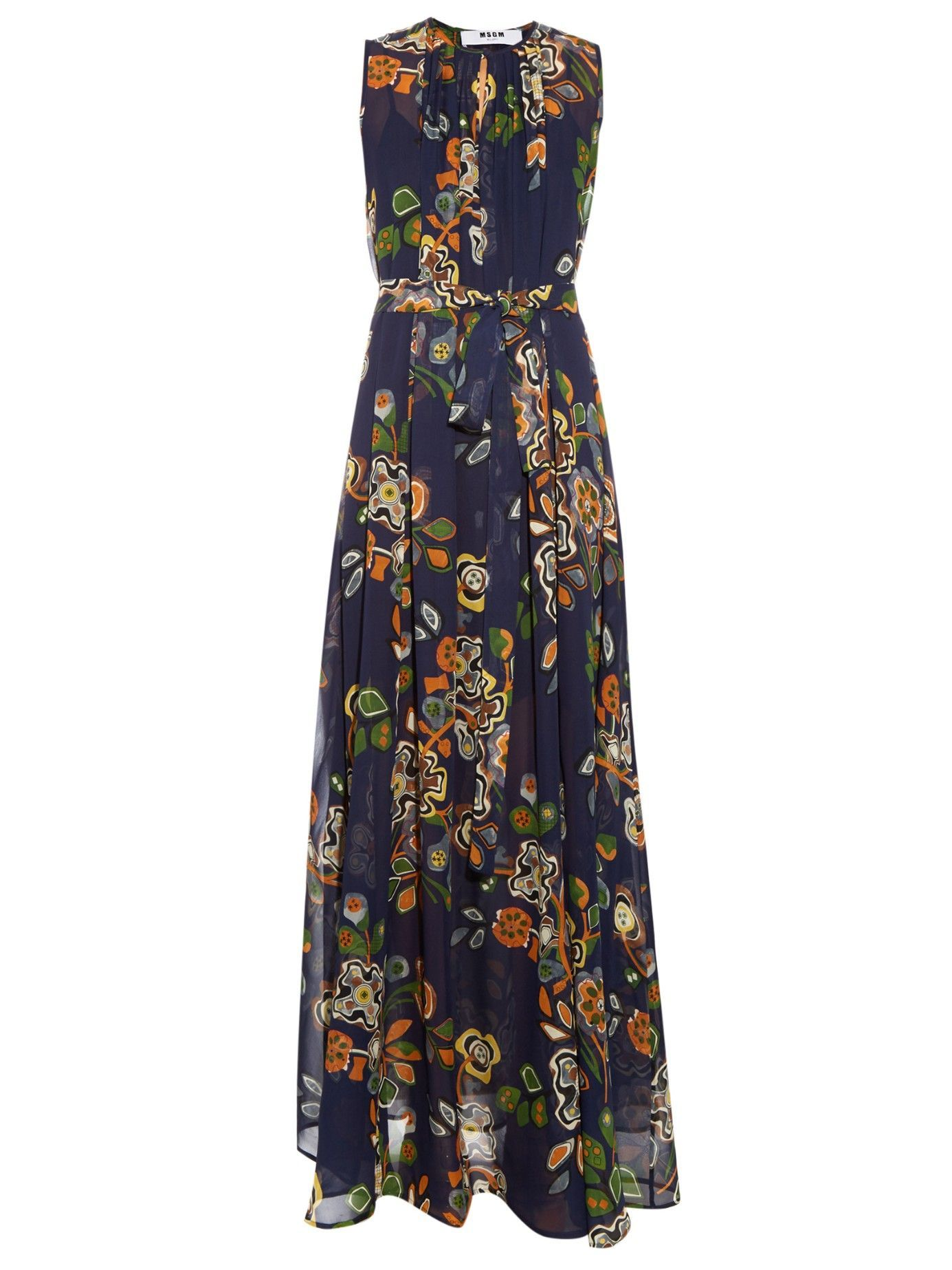 9c8985734 Abstract floral-print silk-georgette maxi dress | MSGM | MATCHESFASHION.COM  US