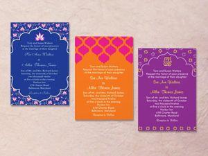 hindu color palette colorful indian wedding invitation palettes