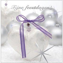 12 kerstkaartjes: Fijne feestdagen! (hart kerstbal)   Muller wenskaarten   kerstkaarten 2012-2013