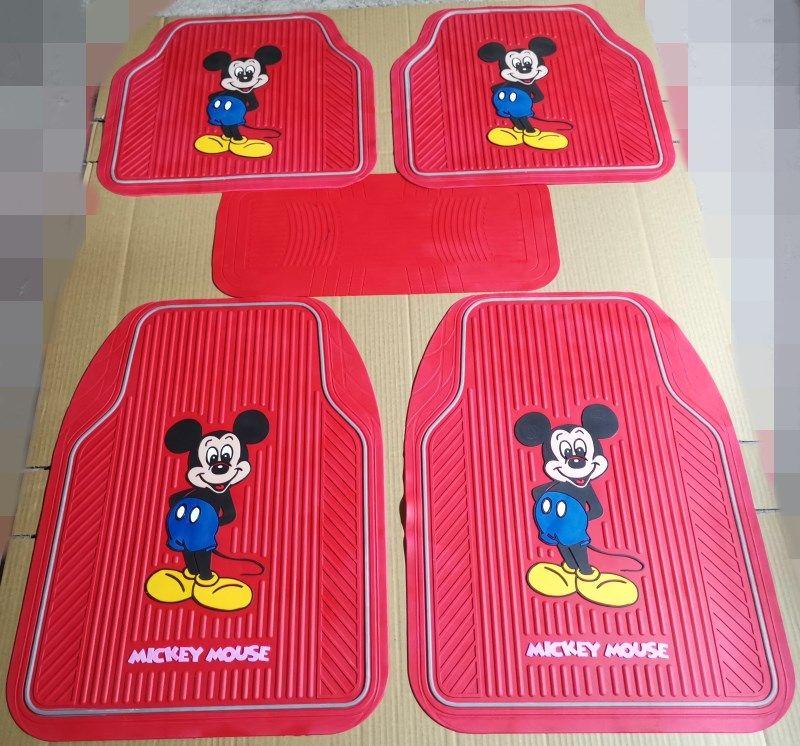 15532 mickey mouse genenal car floor mats rubber 5pcs