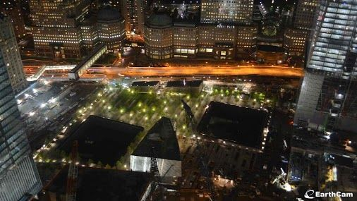 9/11 Memorial - Google+ - EarthCam captured this stunning image of the +9/11 Memorial…