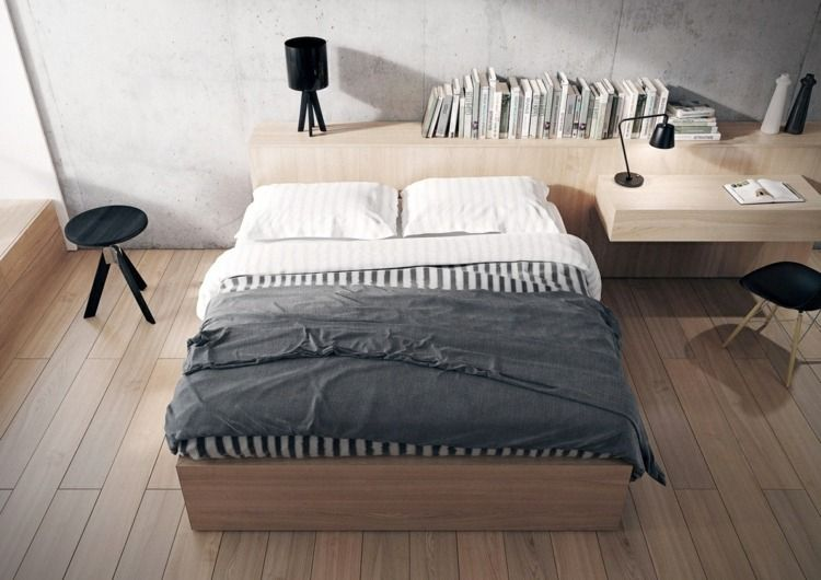 25 id es pour la chambre coucher moderne de toute taille accents noirs rev tements de sol. Black Bedroom Furniture Sets. Home Design Ideas