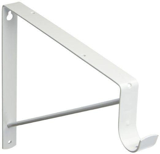 Stanley Hardware Heavy Duty Shelf And Closet Rod Support White 190300 Closet Rod Hardware Shelf Accessory