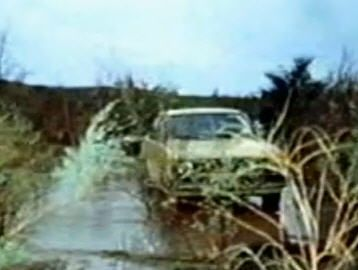 """Abandoned the yellow Datsun in Arizona after a flash flood had wetted the engine of the car. Eventually Chris abandoned it and left a note that read, """"This piece of sh*t has been abandoned. Whoever can get it out of here can have it."""""""