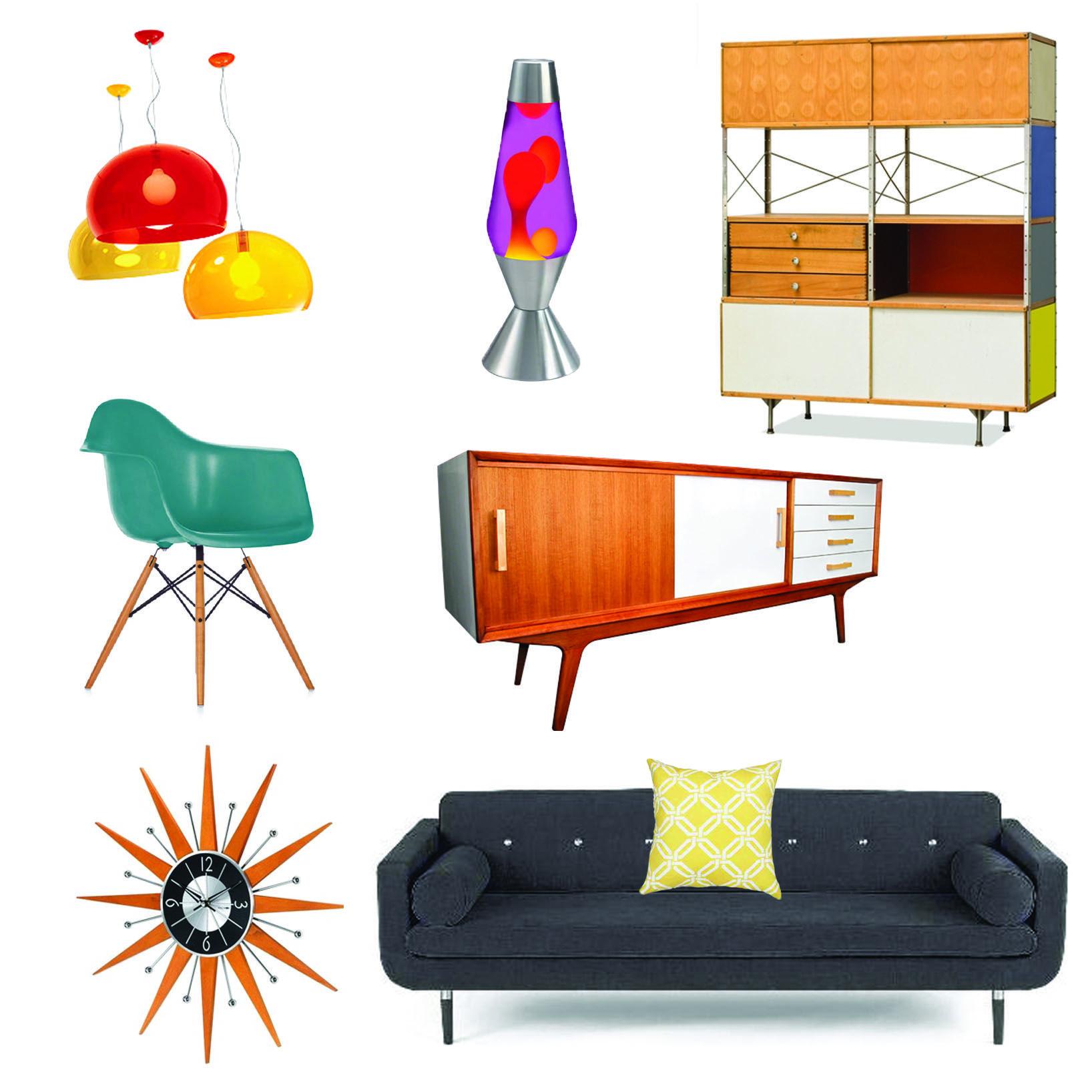 Decorating A Contemporary Living Room Uses Retro Furniture: Chic Designer  Interiors Art Deco Game Accessories Upholstery Fabric Chic Retro Cane Retro  Retro ...