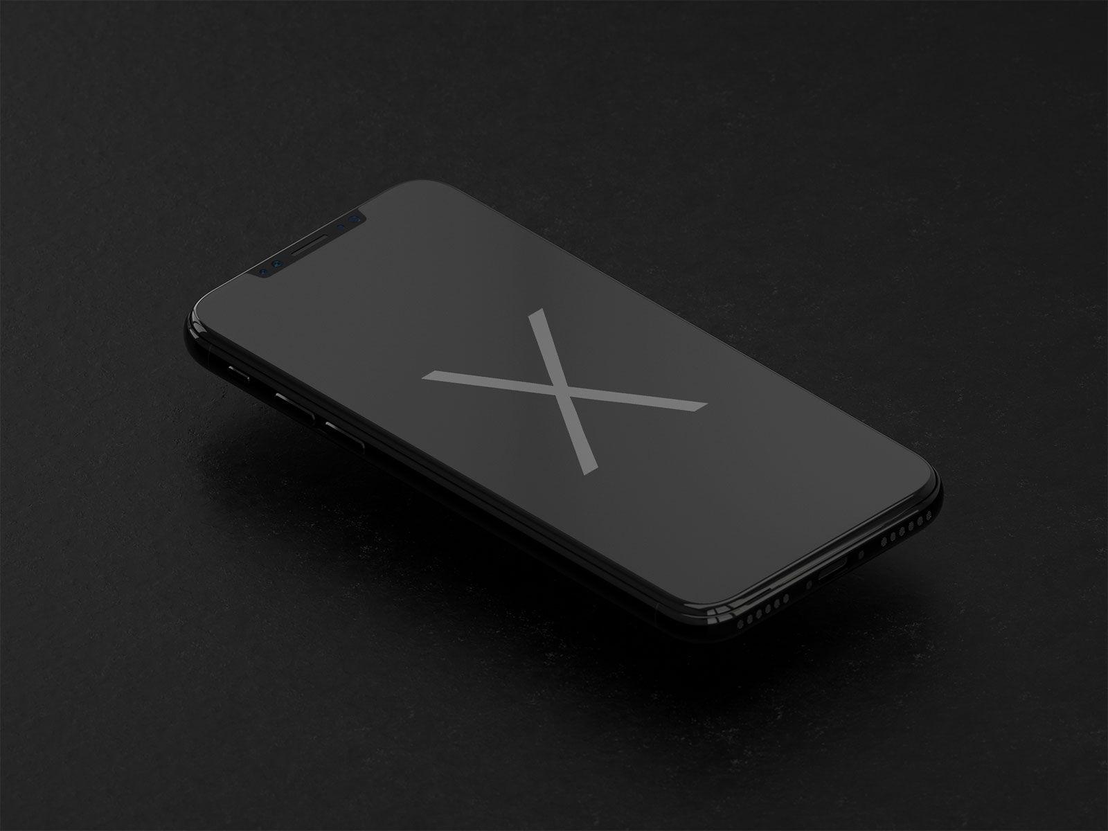 Download Free Apple Iphone X Black Mockup Psd Apple Iphone Iphone Gold Iphone Case