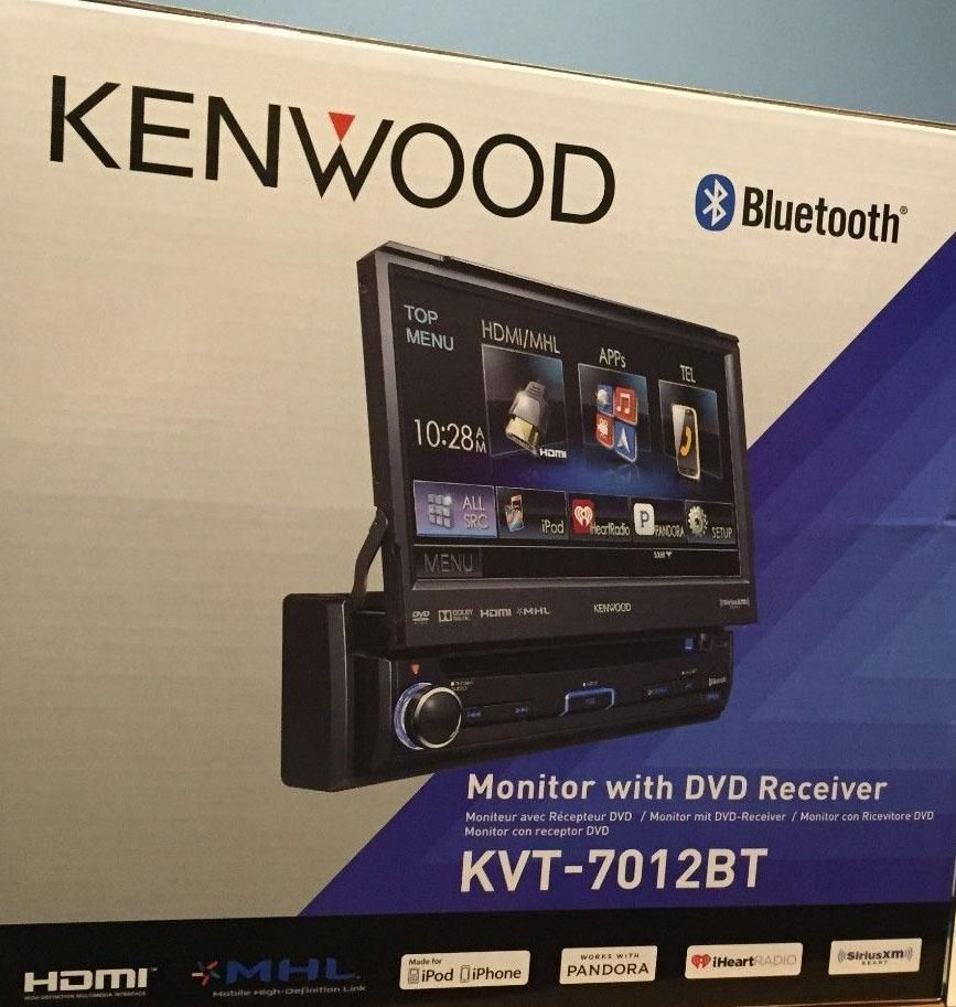 Kenwood Kvt 7012bt 1 Din Dvd Receiver W 6 95 Touchscreen Free Cell Antenna Kenwood Kenwood Mobile Gifts Touch Screen