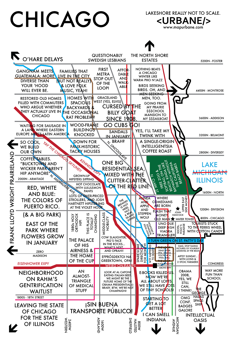The Best Burger In Chicago At Every L Stop Thrillist Chicago The - Chicago map by neighborhood