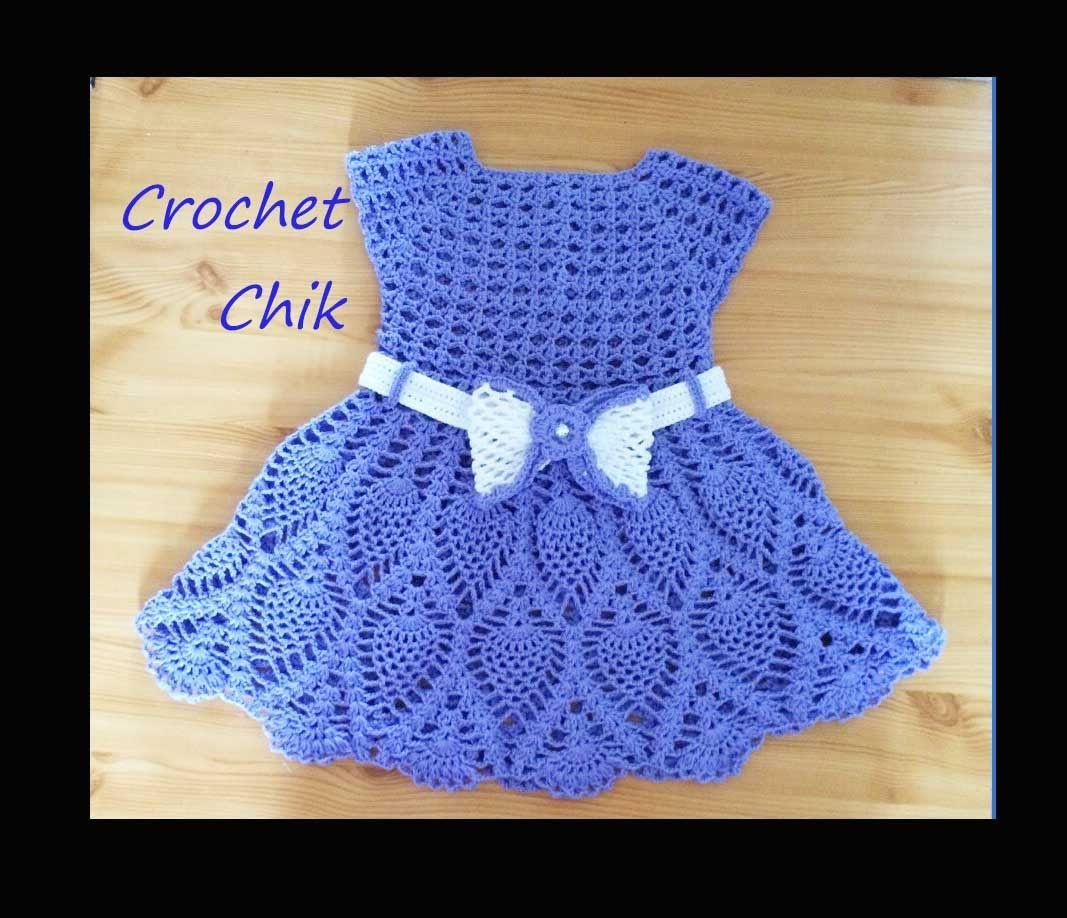 Crochet Robe Pour Bebe كروشيه فستان اطفال Crochet Baby Clothes Crochet Baby Crochet Dress Girl