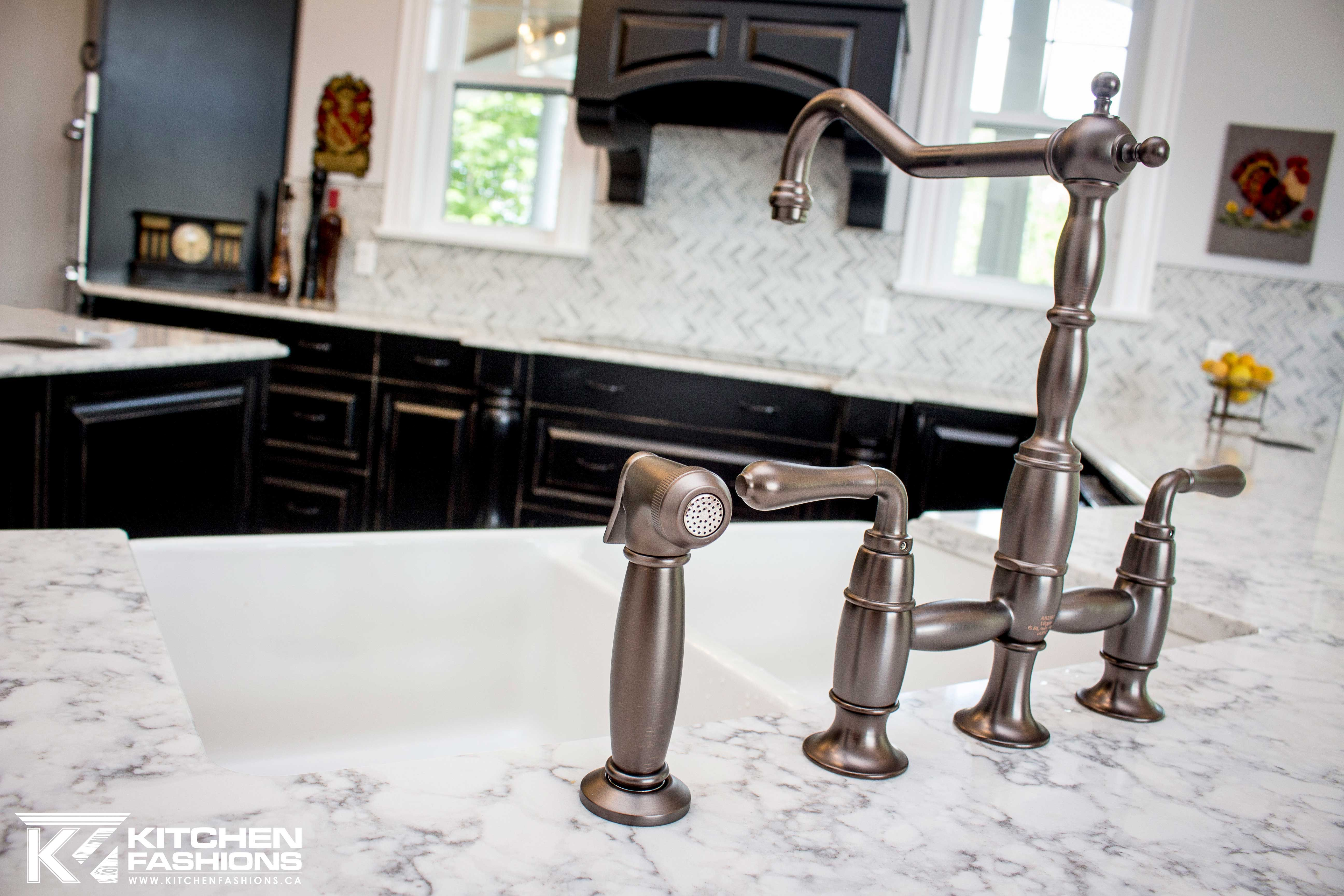 Old fashioned Kitchen Sink tap in brushed bronze | Faucets/Sinks ...