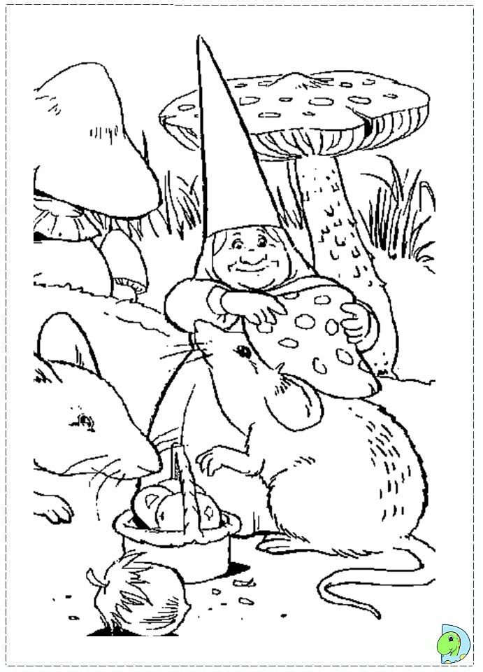 gnome coloring pages - Google Search | Vintage coloring ...