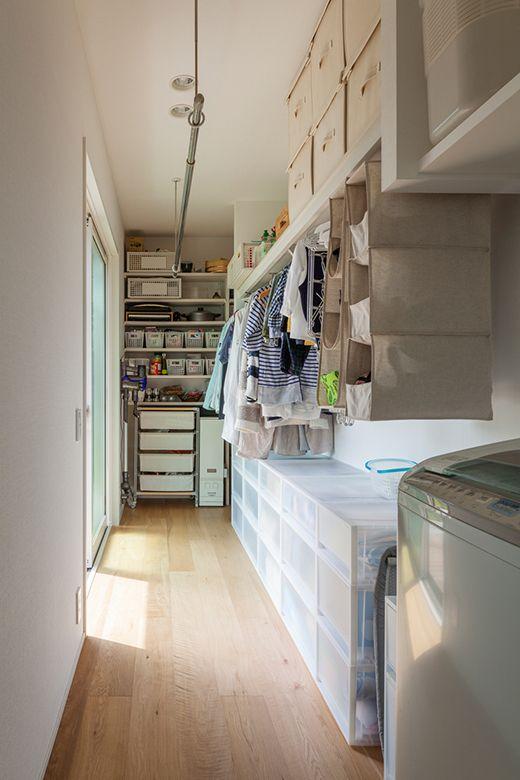 洗濯室とクローゼットが一体になったようなランドリースペース 物件
