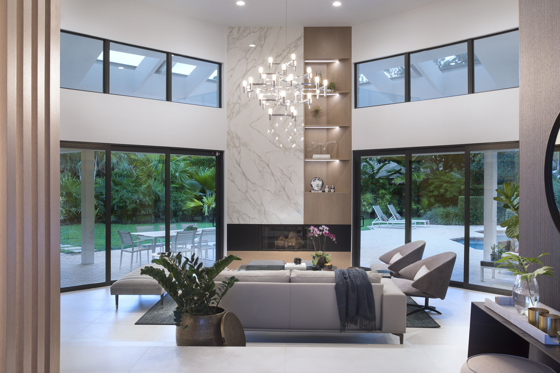 Cocoplum Contemporary Oasis   Residential Interior Design Project In Coral  Gables, Florida #LivingRoomDesign #LivingRoom #MiamiInteriorDesign