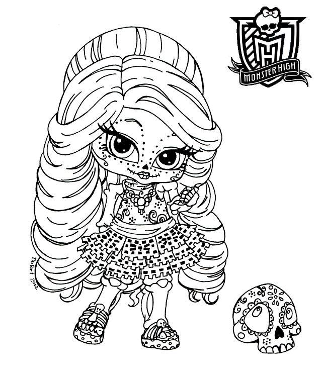 Monster High Baby Skelita Calaveras Color Page
