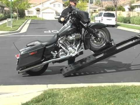 Video Rampage Power Lift Motorcycle Loader For Pickup Trucks Big Rig Tractors Flat Bed And Sprinter Vans Pickup Trucks Bike Lift Motorcycle Ramp
