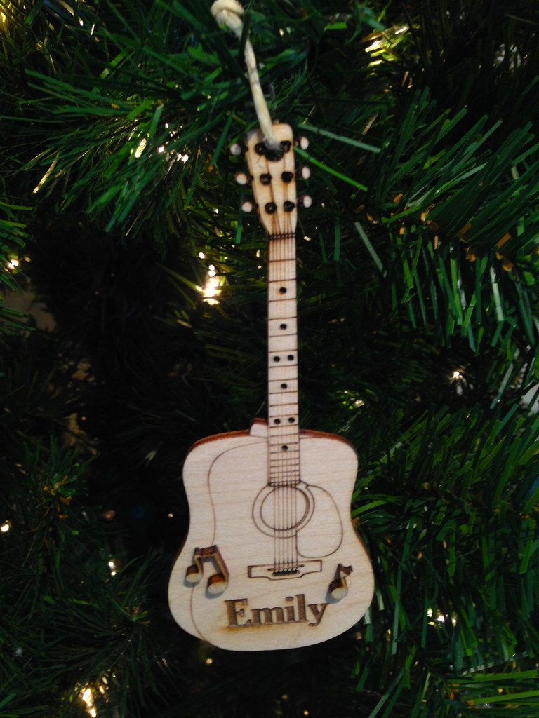 A Personal Favorite From My Etsy Shop Https Www Etsy Com Listing 225937102 Acoust Personalized Christmas Ornaments Personalized Christmas Christmas Ornaments