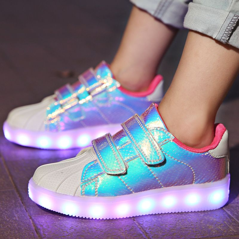 Kids Led USB Charging Glowing Sneakers Luminous Shoes For Girls Boys