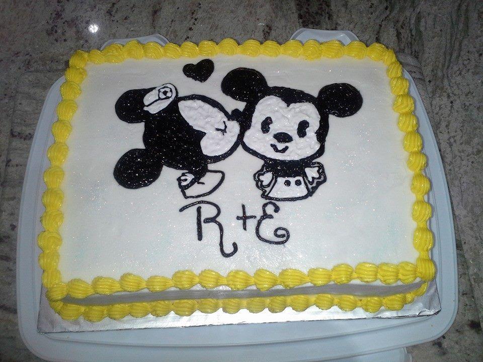 Mickey minnie cake by ll cakes and chocolates minnie