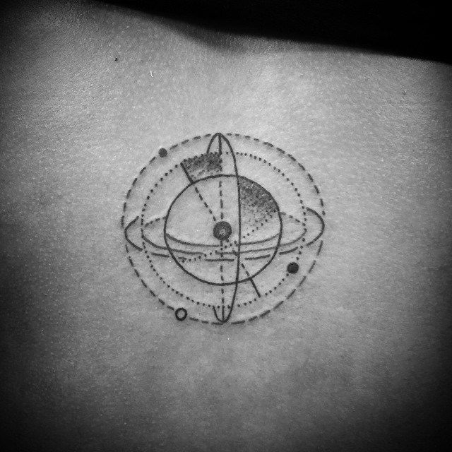 solar system tattoo black and white - photo #26