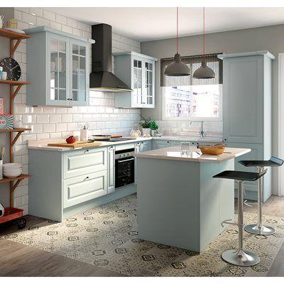 Cozinha delinia gales azul leroy merlin cozinha - Cocinas pequenas leroy merlin ...